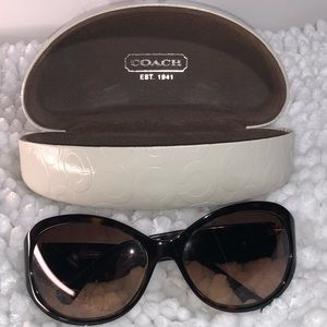"Coach ""Molly"" Signature w/Red Stripe Sunglasses"
